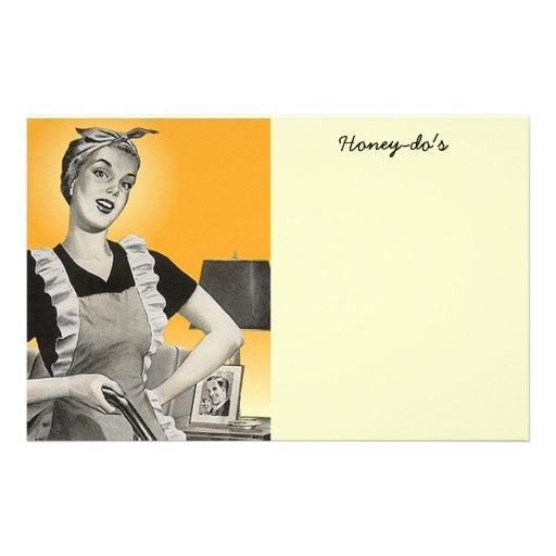 vintage Homemaker Honeydo To Do Lists Paper Stationery