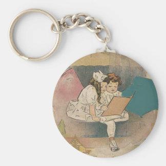 Vintage Homeschooling Children Keychain