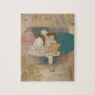 Vintage Homeschooling Children Puzzle