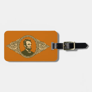 Vintage Honest Abe Lincoln President Portrait Tag For Luggage