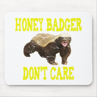 VINTAGE Honey Badger Don't Care Mouse Pad