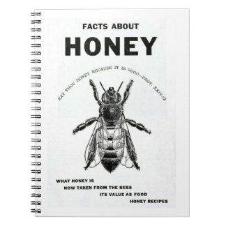 Vintage Honey Bee Advertising Spiral Note Book