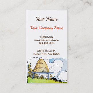 Vintage Honey Bees and Hive Custom Business Card