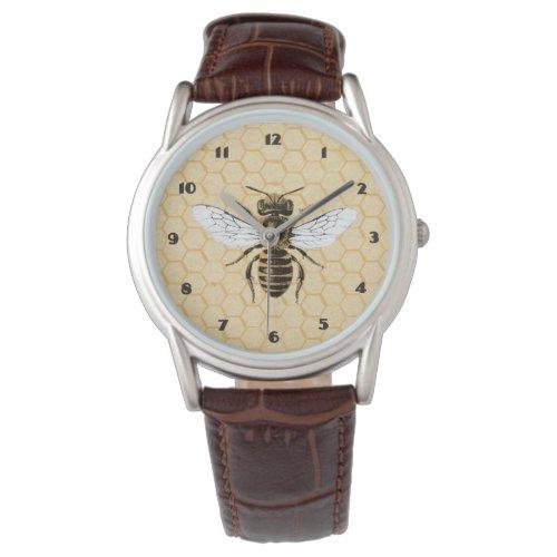 Vintage Honeybee and Honeycomb Watch