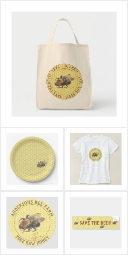 Vintage Honeybee & Honeycomb Pattern Collection