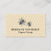 Vintage Honeycomb Honeybee Honey Apiary Bee Farm Business Card