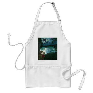 Vintage Honeymoon Love, Newlyweds at Niagara Falls Adult Apron