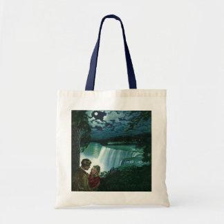 Vintage Honeymoon Love, Newlyweds at Niagara Falls Tote Bag