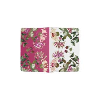 Vintage Honeysuckle Flower Floral Passport Holder