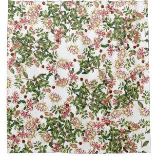 Vintage Honeysuckle Flowers Floral Garden Shower Curtain