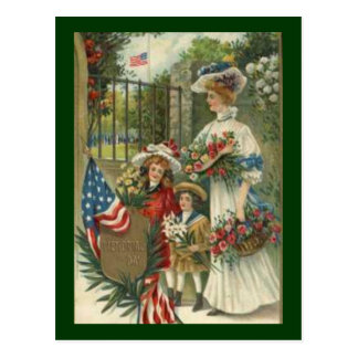 Vintage Honoring Decoration Day Postcard