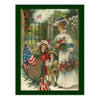 Vintage Honoring Decoration Day Postcard