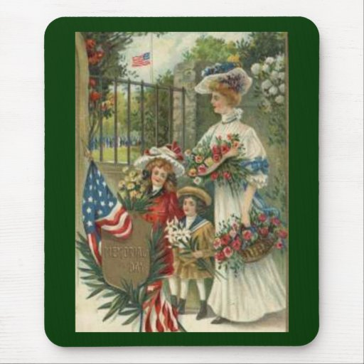 Vintage Honoring Memorial Day Mouse Pad