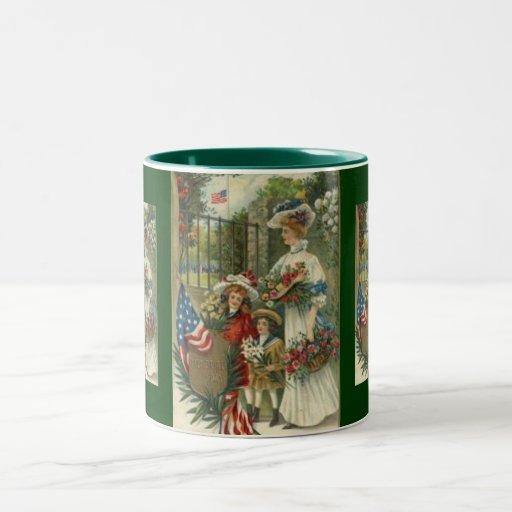 Vintage Honoring Memorial Day Two-Tone Coffee Mug