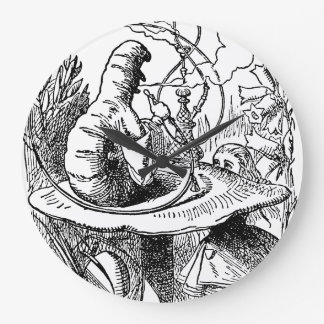 Vintage Hookah Smoking Caterpillar with Alice Clock