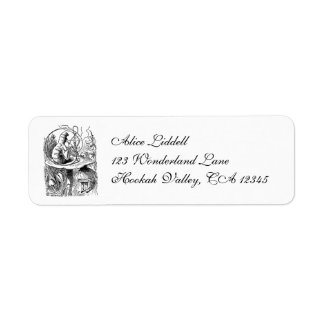 Vintage Hookah Smoking Caterpillar with Alice Custom Return Address Labels