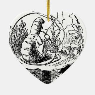 Vintage Hookah Smoking Caterpillar with Alice Christmas Tree Ornament