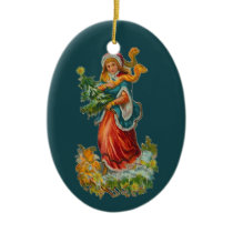 Vintage Hope Ornament - Oval