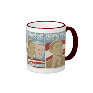 "Vintage ""Hope Won"" Obama Ringer Coffee Mug"