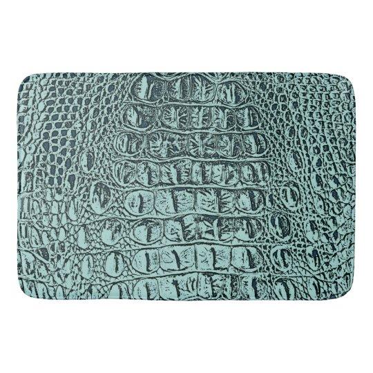 vintage hornback alligator aqua satin bath mat zazzle com