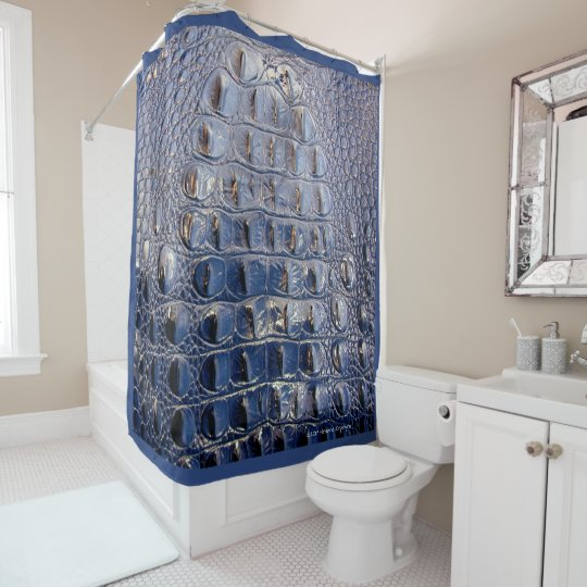 royal blue shower curtain. VINTAGE  HORNBACK ALLIGATOR IN ROYAL BLUE SHOWER CURTAIN Zazzle com