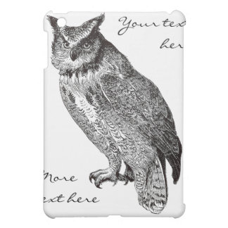 Vintage Horned Owl Case For The iPad Mini