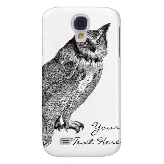 Vintage Horned Owl Galaxy S4 Case