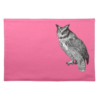 Vintage Horned Owl Placemat