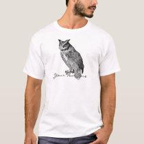 Vintage Horned Owl T-Shirt