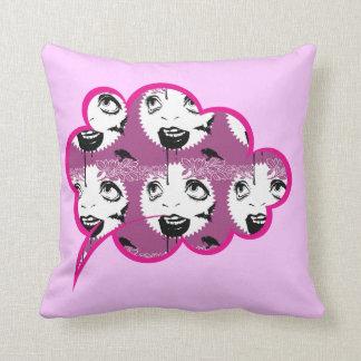 Vintage Horror-Theme Throw Pillow. Pillow