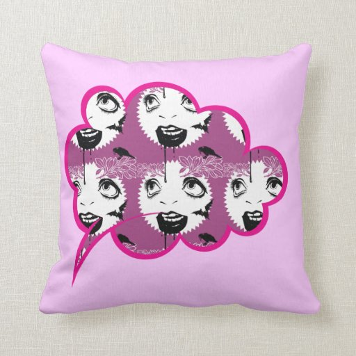 Vintage Horror-Theme Throw Pillow.