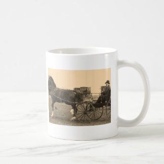 Vintage Horse and Carriage in Sepia Coffee Mug