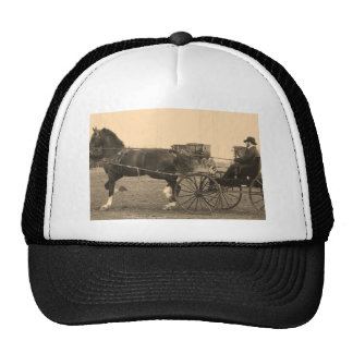 Vintage Horse and Carriage in Sepia Trucker Hat