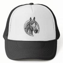 Vintage Horse and Horseshoe Cap