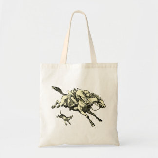 Vintage Horse and Rider and Dog Tote Bag