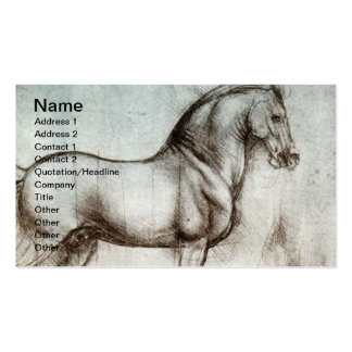Vintage Horse Art Double-Sided Standard Business Cards (Pack Of 100)