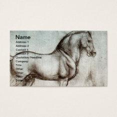 Vintage Horse Art Business Card at Zazzle