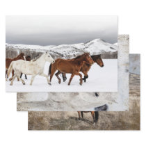 VINTAGE HORSE ART HEAVY WEIGHT DECOUPAGE WRAPPING PAPER SHEETS