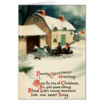 Vintage Horse & Buggy Merry Christmas Greeting Cards