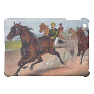 Vintage horse carriage racing case cover for the iPad mini