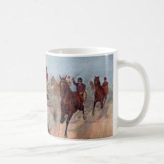 Vintage horse carriage racing mug