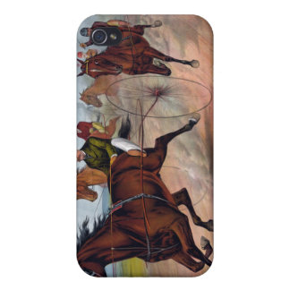 Vintage horse carriage racing poster iPhone 4/4S case