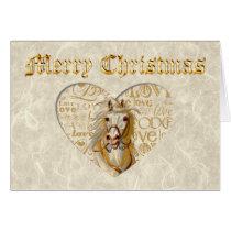 Vintage Horse Christmas Card