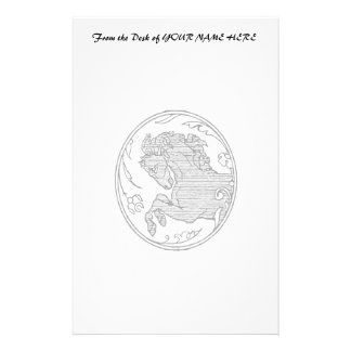 Vintage horse drawing png customized stationery