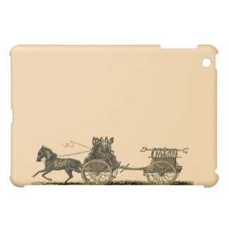 Vintage Horse Drawn Fire Engine Illustration iPad Mini Cases