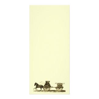 Vintage Horse Drawn Fire Engine Illustration Rack Card