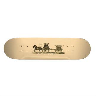 Vintage Horse Drawn Fire Engine Illustration Skateboard Deck