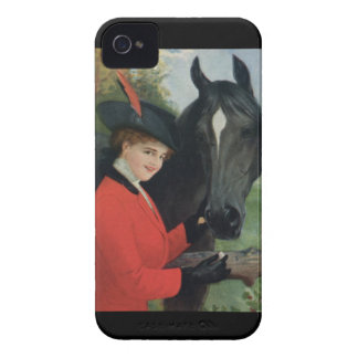 Vintage Horse Equestrian Red Riding Jacket iPhone 4 Case-Mate Cases