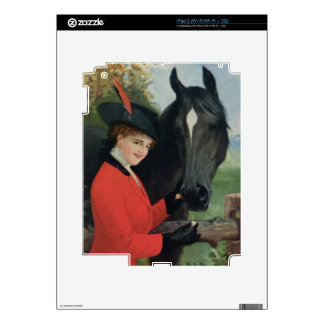 Vintage Horse Equestrian Red Riding Jacket iPad 2 Skin