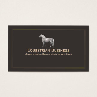 Vintage Horse Etching Business Card
